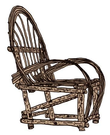 Rustic Willow Adult Chair - Side view